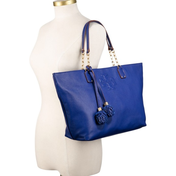 b66b1db378 Tory burch royal blue Thea ball tote. M_5af0e0b39a94558b27c598c7